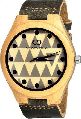 Zegarek Giacomo Design Drewniany Bamboo Wood (GD08003)