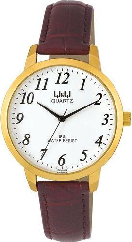 Zegarek Q&Q Męski  C154-114 Klasyczny brązowy