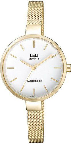Zegarek Q&Q QA15-001 Fasion Mesh Złoty