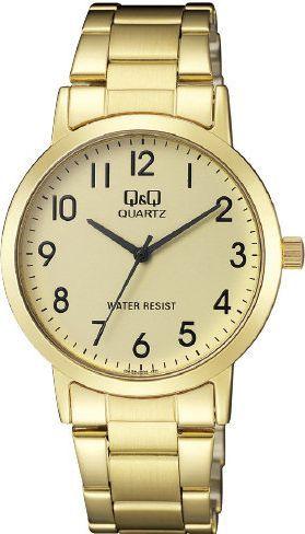 Zegarek Q&Q QA38-003 Klasyczny Złoty