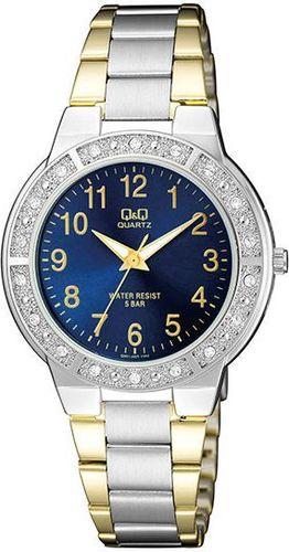 Zegarek Q&Q Damski Q901-405 Cyrkonie Biżuteryjny