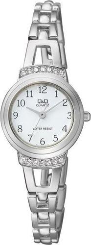 Zegarek Q&Q Damski  F573-204 Cyrkonie Biżuteryjny