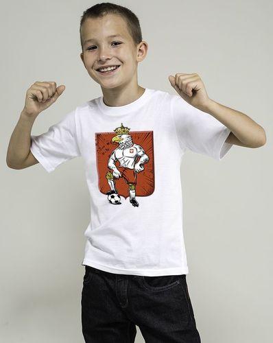 454f23d07 Surge Polonia Koszulka dziecięca Orzeł Biały Piłkarz (BIAŁA) - 5-6 lat