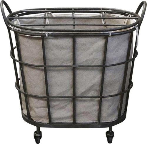Kosz na pranie Chic Antique na kółkach beż (48143-uniw)