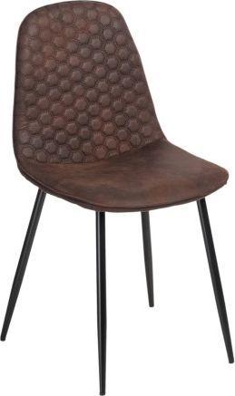 D2 Design Krzesło Hiko brązowe