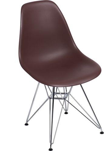 D2 Design Krzesło P016 PP brązowe (80594)