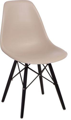 D2 Design Krzesło P016W PP beżowo-czarne (84921)