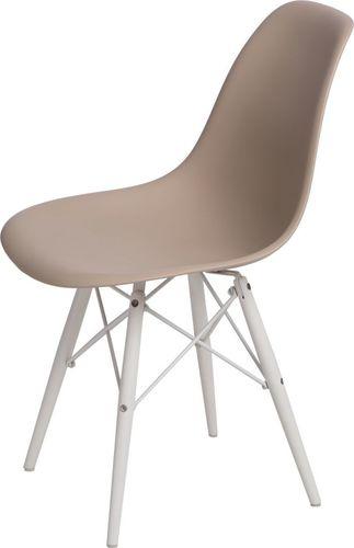 D2 Design Krzesło P016W PP beżowo-białe (84783)