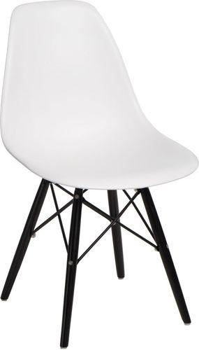 D2 Design Krzesło P016W PP biało-czarne (84918)