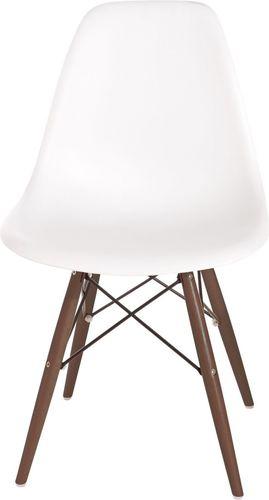 D2 Design Krzesło P016W PP biało-brązowe (63426)