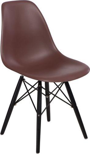 D2 Design Krzesło P016W PP brązowo-czarne (84915)