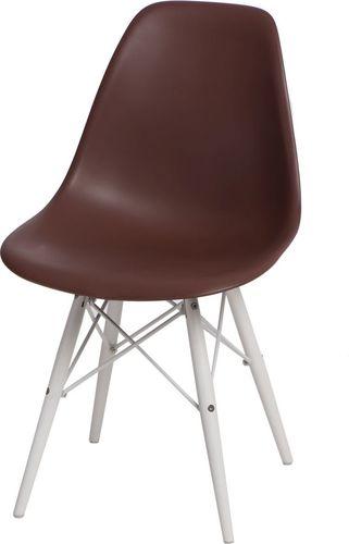 D2 Design Krzesło P016W PP brązowo-białe (84795)