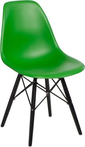 D2 Design Krzesło P016W PP zielono-czarne (84912)
