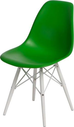D2 Design Krzesło P016W PP zielono-białe (84745)