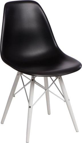 D2 Design Krzesło P016W PP czarno-białe (84750)