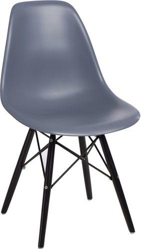 D2 Design Krzesło P016W PP szaro-czarne (84903)