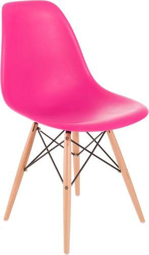 D2 Design Krzesło P016W PP ciemno różowe