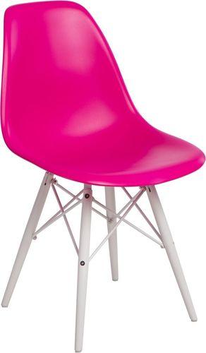 D2 Design Krzesło P016W PP różowe