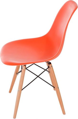 D2 Design Krzesło P016W PP pomarańczowe