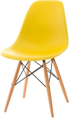 D2 Design Krzesło P016W PP żółte