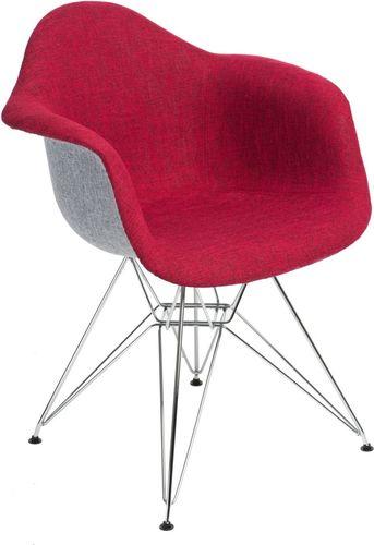 D2 Design Krzesło P018 DAR Duo czerwono-szare