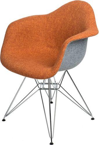 D2 Design Krzesło P018 DAR Duo pomarańczowo-szare