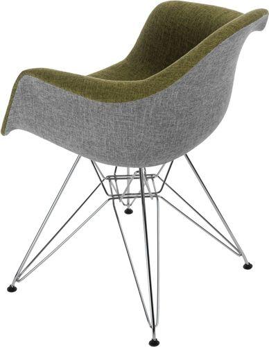 D2 Design Krzesło P018 DAR Duo zielono-szare