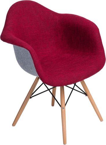 D2 Design Krzesło P018 DAW Duo czerwono-szare