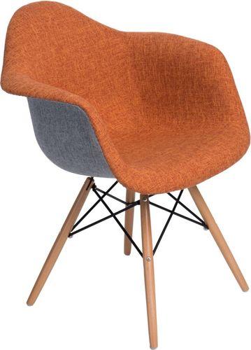 D2 Design Krzesło P018 DAW Duo pomarańczowo-szare