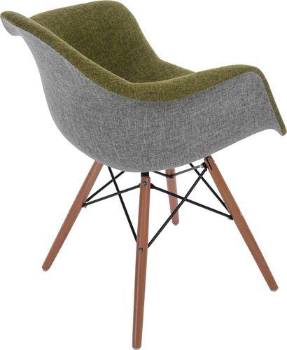 D2 Design Krzesło P018 DAW Duo zielono-szare