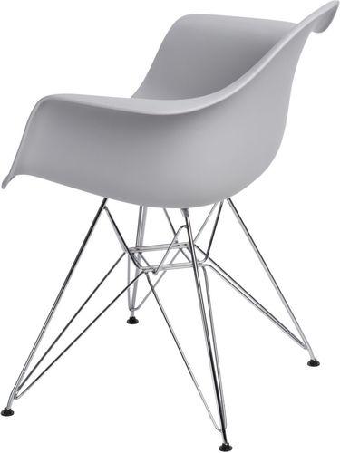 D2 Design Krzesło P018 PP szare