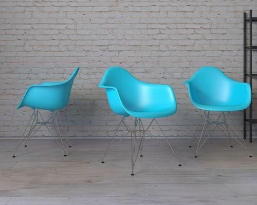 D2 Design Krzesło P018 PP niebieskie