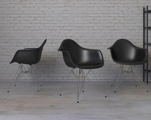D2 Design Krzesło P018 PP czarne