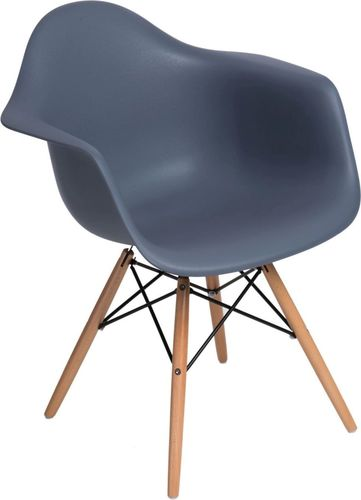 D2 Design Krzesło P018W PP szare