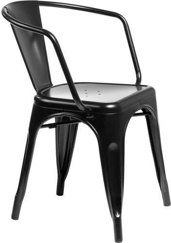 D2 Design Krzesło Paris Arms czarne