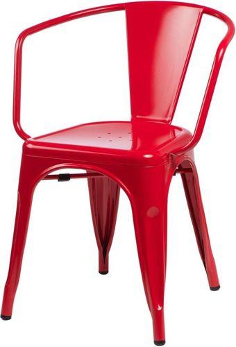 D2 Design Krzesło Paris Arms czerwone