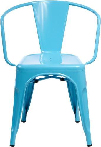 D2 Design Krzesło Paris Arms niebieskie