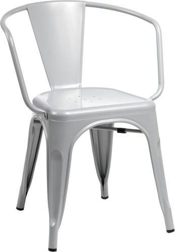 D2 Design Krzesło Paris Arms szare