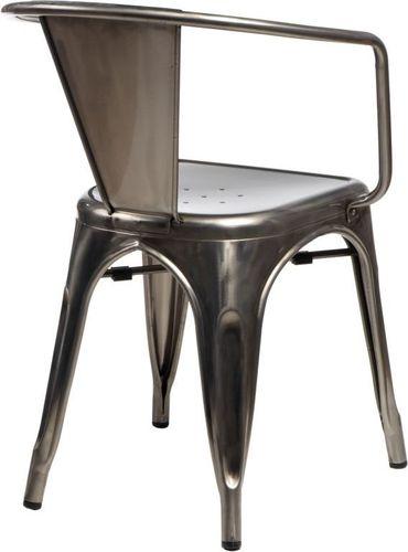 D2 Design Krzesło Paris Arms srebrne