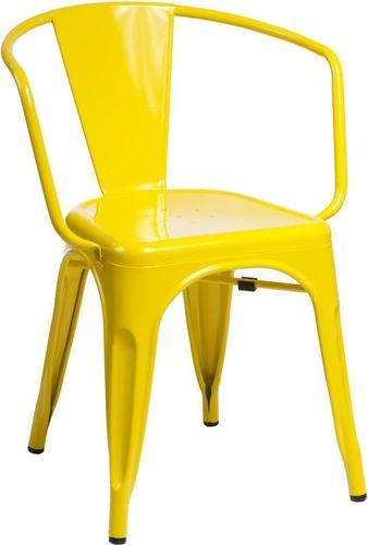 D2 Design Krzesło Paris Arms żółte