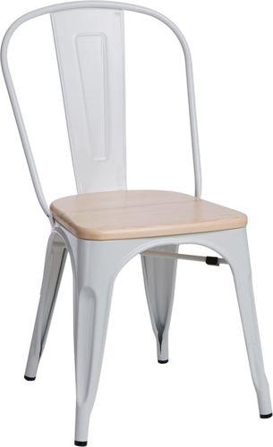 D2 Design Krzesło Paris Wood sosna naturalna białe