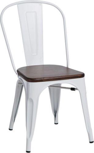 D2 Design Krzesło Paris Wood sosna orzech białe