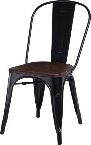 D2 Design Krzesło Paris Wood sosna orzech czarne