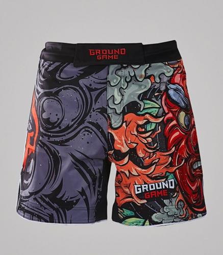 Ground Game Sportswear Spodenki MMA Tengu szare r. L