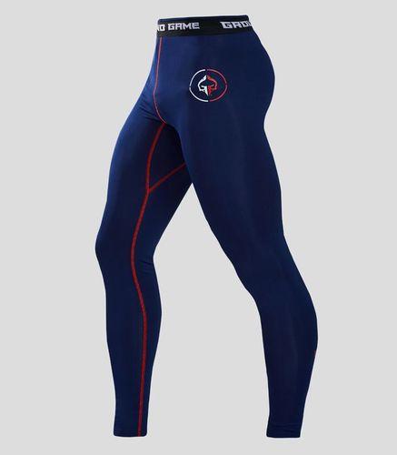 "Ground Game Sportswear Legginsy ""Athletic 2.0"" (Granatowe) S"