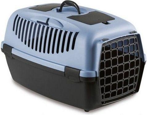 Zolux Transporter GULLIVER 3 z plastikowymi drzwiczkami kol. niebieski/ciemny brąz (422095BAC)