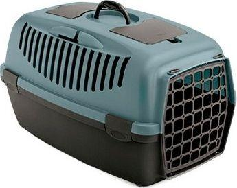 Zolux Transporter GULLIVER 2 z plastikowymi drzwiczkami kol. niebieski/ciemny brąz (422093BAC)
