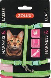 Zolux Zestaw spacerowy dla kota zielony