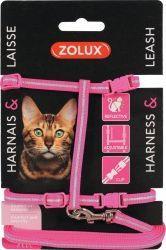 Zolux Zestaw spacerowy dla kota różowy