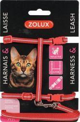 Zolux Zestaw spacerowy dla kota czerwony